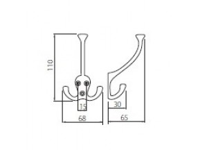 110-01 D крючок хром (WZ-D-110-01)