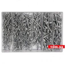 Заклепки YATO алюминиевые 2.4. 3.2. 4. 4.8 х 6.4 мм 400 шт.