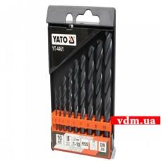 Набор сверл по металлу YATO HSS 1-10 мм 10 шт (YT-4461)