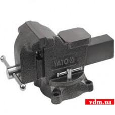 Тиски слесарные YATO поворотные 100 мм