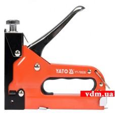 Степлер YATO с регулятором для скоб 53 4-14 мм. S 10-12 мм. J 10-14 мм