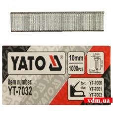 Гвозди YATO для степлера тип J 10 мм 1000 шт.