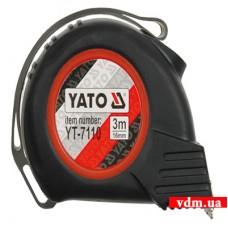 Рулетка YATO с нейлоновым покрытием и магнитами 3 м х 16 мм