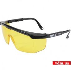 Защитные очки YATO открытые желтые (YT-7362)
