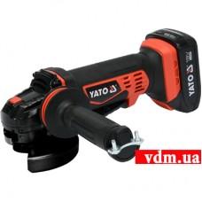 Угловая аккумуляторная шлифмашина YATO YT-82826
