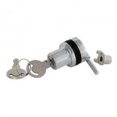 Замок д/стекла врезной одинарный  Х-910 хром (один ключ) 14.09.108