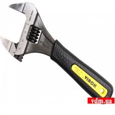 """Ключ разводной VIROK 6"""" с тонкими губками и обрезиненной рукояткой 150 мм"""