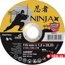 Диск отрезной Virok Ninja по металлу и нержавеющей стали 115 х 1.2 х 22.23 мм (65V116)