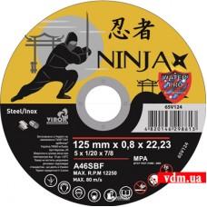 Диск отрезной Virok Ninja по металлу и нержавеющей стали 125 х 0.8 х 22.23 мм (65V124)