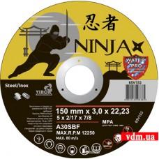 Диск отрезной Virok Ninja по металлу и нержавеющей стали 150 х 3.0 х 22.23 мм (65V153)