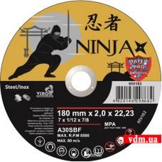 Диск отрезной Virok Ninja по металлу и нержавеющей стали 180 х 2.0 х 22.23 мм (65V182)