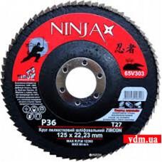 Круг шлифовальный Virok Ninja Zirconium T27 лепестковый P36 125 х 22 мм (65V303)