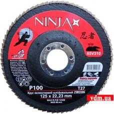 Круг шлифовальный Virok Ninja Zirconium Т27 лепестковый P100 125 х 22 мм (65V310)