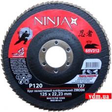 Круг шлифовальный Virok Ninja Zirconium Т27 лепестковый P120 125 х 22 мм (65V312)
