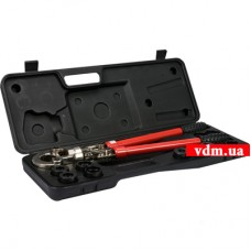 Пресс-клещи для металлопластиковых труб YATO с насадками 9 шт (YT-21735)