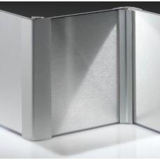 Угол 90* двухсторон. д/цоколя пластик+фольга Н-150мм алюминий 127.147.805 OPES