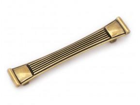 15085Z1280B.07 ручка L-128мм старое золото (160*25мм)