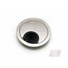 Заглушка для кабеля металлическая d-80мм никель inox АКЦИЯ!!!!!