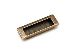 15203Z0900B.09 ручка врезная L-75мм старое золото (90*31мм)