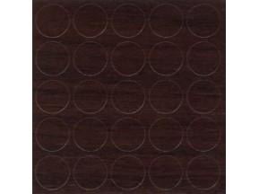 348 Заглушка самоклейка д-14мм конф. орех темный (25шт)