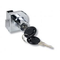 Замок д/стекла неврезной (внутренние двери) одинарный  Х-918 хром (один ключ)14.09.216