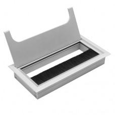 Заглушка для кабеля Merida прямоугольная 80х160мм, алюминий (LB-80x160-05)