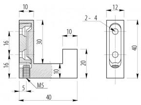 2201-К-01 WZ Крючок К2201 хром одинарный (WZ-K2201-01)