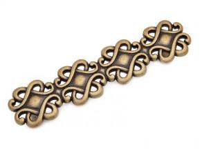 15308Z1280B.09 ручка L-128мм старое золото (178х45мм)