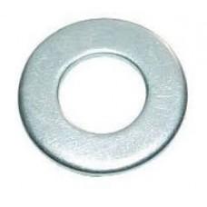 Шайба плоская М6, белый цинк