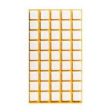 Войлок-подкладка  квадрат 14 х 14мм, белый (21430К) (45 штук)
