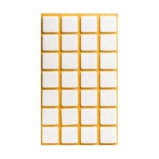 Войлок-подкладка  квадрат 20 х 20мм, коричнев. (22032К) (28 штук)
