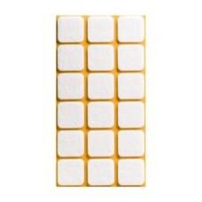 Войлок-подкладка  квадрат 25 х 25мм, белый (22530К) (18 штук)