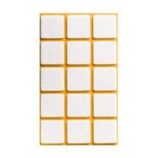 Войлок-подкладка  квадрат 28 х 28мм, белый (22830К) (15 штук)