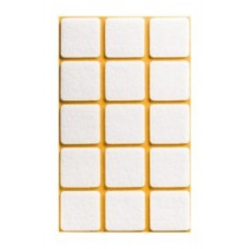 Войлок-подкладка  квадрат 30 х 30мм, белый (23030К) (15 штук)