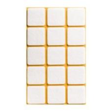 Войлок-подкладка  квадрат 30 х 30мм, коричнев. (KB7303) (15 штук)