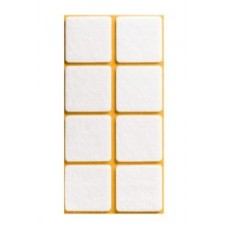 Войлок-подкладка  квадрат 38 х 38мм, белый (23830К) (8 штук)