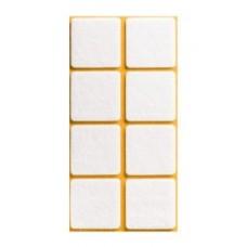 Войлок-подкладка  квадрат 38 х 38мм, коричнев. (23832К) (8 штук)