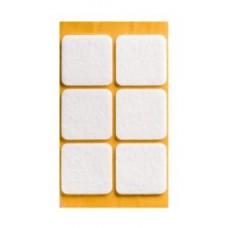 Войлок-подкладка  квадрат 40 х 40мм, белый (24030К) (6 штук)