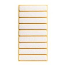 Войлок-подкладка  прямоугольн. 15 х 80мм, белый (31530К) (9 шт)