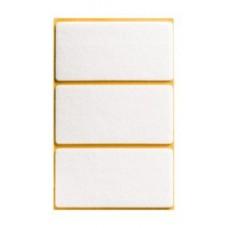 Войлок-подкладка  прямоугольн. 50 х 100мм, белый (35030К) (3 шт)