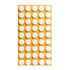 Войлок-подкладка круг d-14мм, белый (11430К) (45 шт)