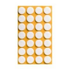 Войлок-подкладка круг d-20мм, белый (KW6203) (28 шт)