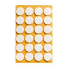 Войлок-подкладка круг d-22мм, коричнев. (12232К) (24 шт)