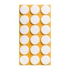 Войлок-подкладка круг d-25мм, белый (12530К) (18 шт)