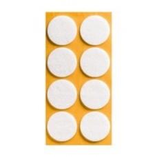 Войлок-подкладка круг d-35мм, белый (13530К) (8 шт)
