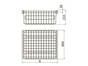 Корзина для одежды 600 ГРАФИТ без направляющих  GTV (W-WK060-BP-60)