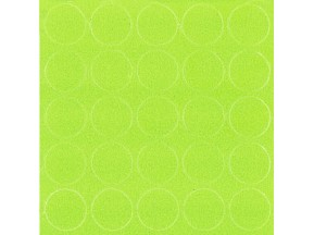068 Заглушка самоклейка д-14мм конф. зеленая лимонка (25шт)
