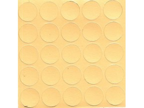 090 Заглушка самоклейка д-14мм конф. милано желтый (25шт)