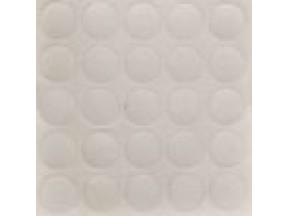 319 Заглушка самоклейка д-14мм конф. белый структура (25шт)