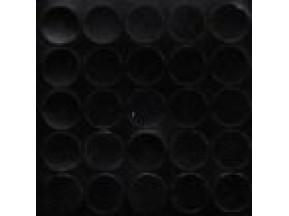 325 Заглушка самоклейка д-14мм конф. черный гладкий (25шт)